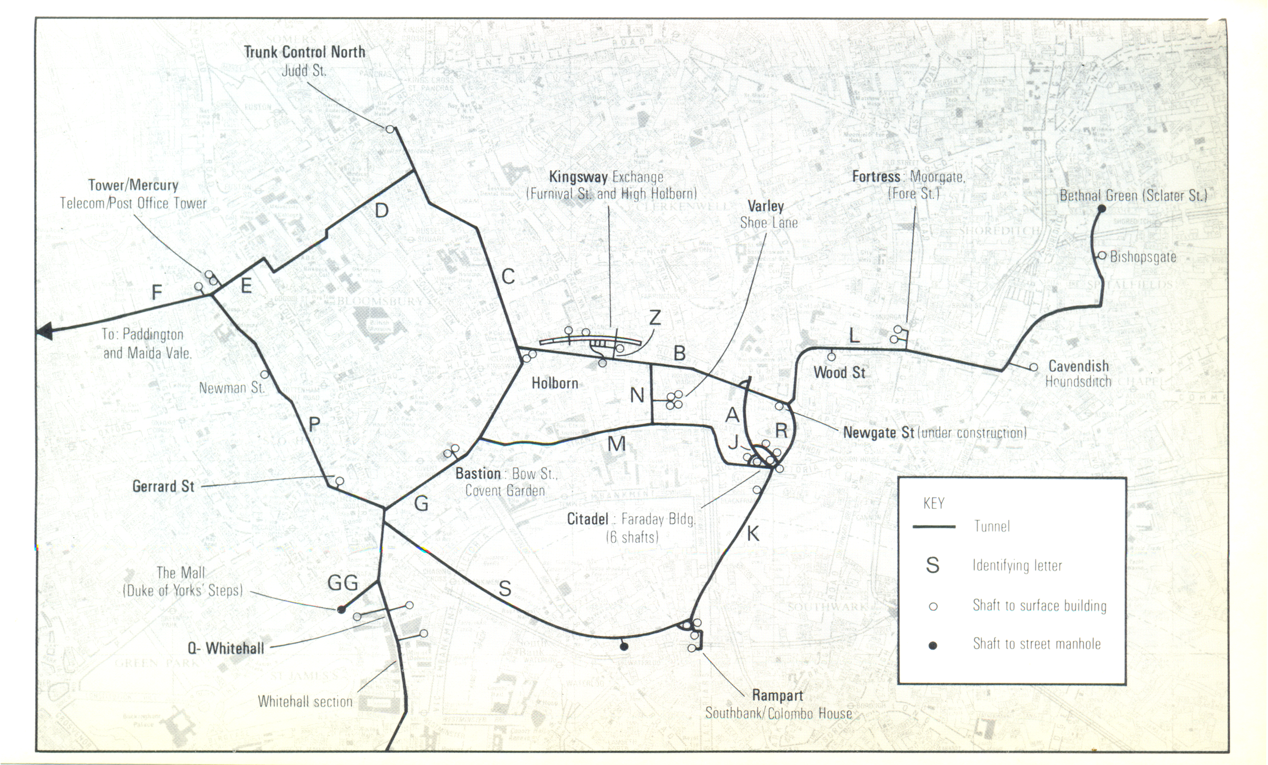 Map Of Uk Nuclear Bunkers.Tunnels Duncancampbell Org