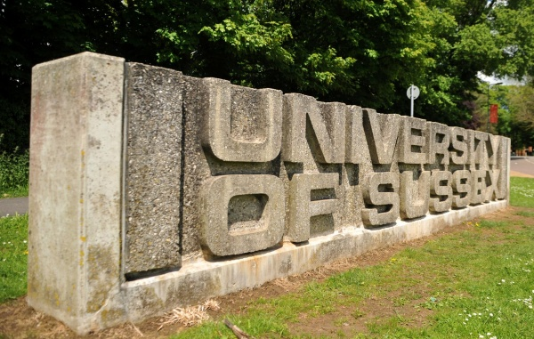 University of Sussex sign