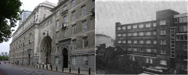 Thames House in London and BT Tapping Centre in London 1980